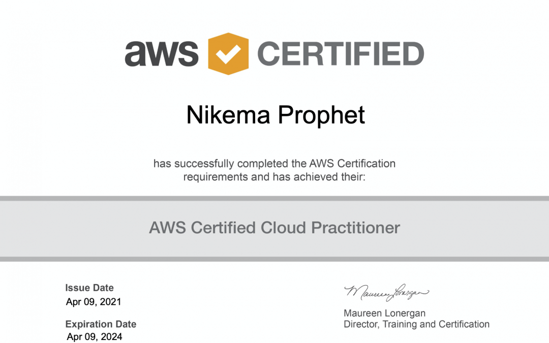 #NikemaLearns About AWS – #4 Officially AWS Certified
